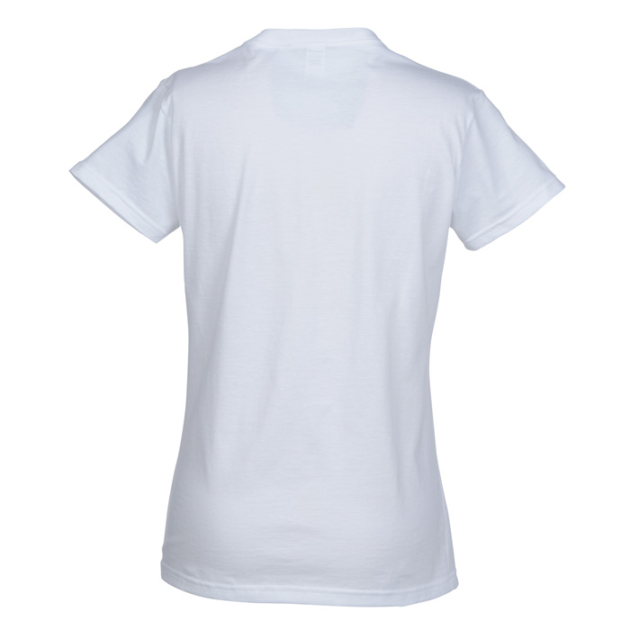 Anvil Ringspun 4.5 oz. V-Neck T-Shirt - Ladies' - White (Item No ...
