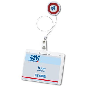 Color Edge Retractable Badge Holder Image 2 of 3