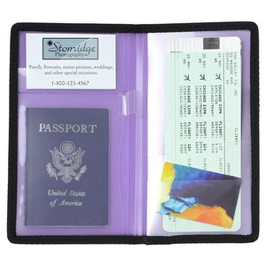 Passport & Itinerary Travel Jacket - Translucent - Closeout Image 1 of 1