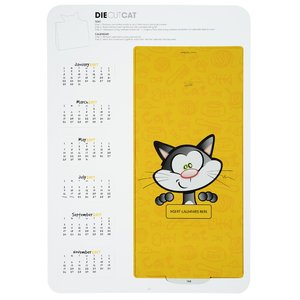 Die-Cut Desk Calendar - Cat