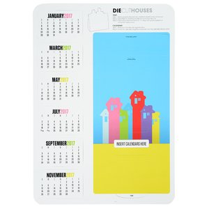 Die-Cut Desk Calendar - House Image 1 of 2