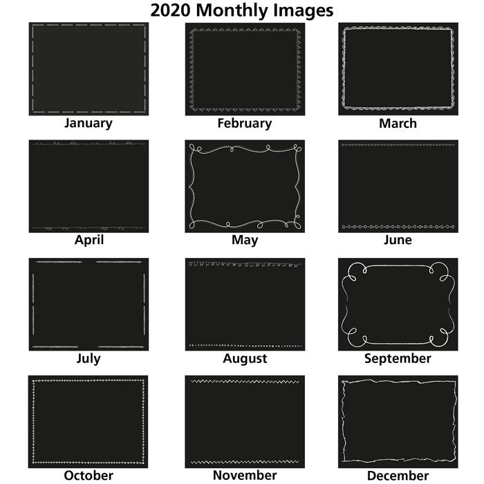 Chalkboard Calendar Canada : Imprint chalkboard appointment calendar