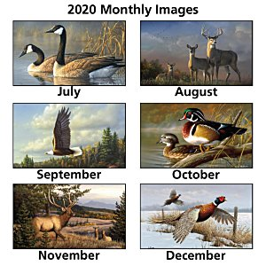 Wildlife Art Large Wall Calendar Image 2 of 2