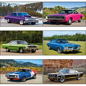 Muscle Cars Calendar with 2-Month View