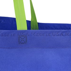 USA Made Two Tone Bottom Gusset Tote Image 1 of 2
