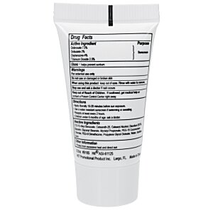Sunscreen Tube - 1/2 oz. Image 1 of 1
