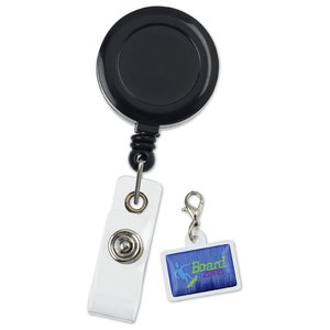 Retractable Badge Holder Charm - Rectangle Image 2 of 4