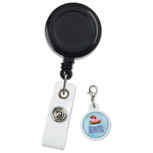 Retractable Badge Holder Charm - Round Image 1 of 4