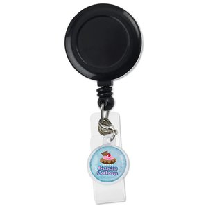 Retractable Badge Holder Charm - Round Image 4 of 4