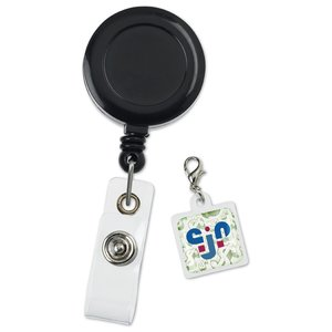 Retractable Badge Holder Charm - Square Image 3 of 4