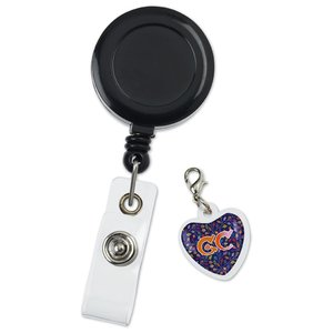 Retractable Badge Holder Charm - Heart Image 1 of 4