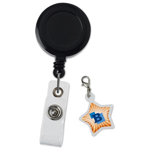 Retractable Badge Holder Charm - Star Image 4 of 4
