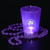 View Extra Image 5 of 5 of Light-Up Shot Glass on Beaded Necklace - 2 oz. - 24 hr