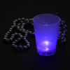 View Extra Image 2 of 6 of Light-up Shot Glass on Beaded Necklace - 2 oz. - Multi