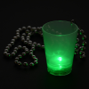 View Extra Image 3 of 6 of Light-up Shot Glass on Beaded Necklace - 2 oz. - Multi