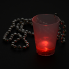 View Extra Image 4 of 6 of Light-up Shot Glass on Beaded Necklace - 2 oz. - Multi
