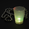 View Extra Image 5 of 6 of Light-up Shot Glass on Beaded Necklace - 2 oz. - Multi
