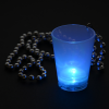 View Extra Image 6 of 6 of Light-up Shot Glass on Beaded Necklace - 2 oz. - Multi