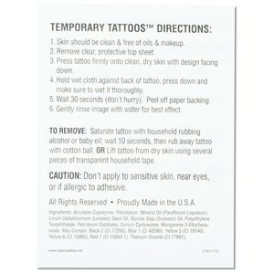 Temporary Tattoo Mini Sheet- Wow Words Image 2 of 2