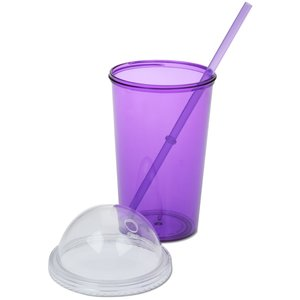 Domed Tumbler with Straw - 20 oz. Image 1 of 3