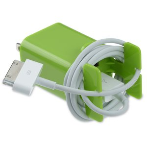Dual Wall Charger Cable Organizer