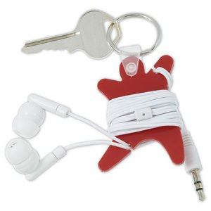 Ear Bud Wrap Keychain Image 2 of 2