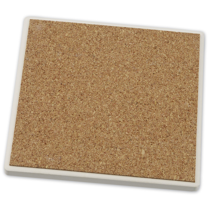 Absorbent stone coaster duo square 125070 sq 2 imprinted with your logo - Stone absorbent coasters ...