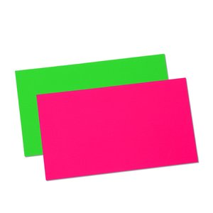 Fluorescent Business Card Magnet - Closeout Image 2 of 2