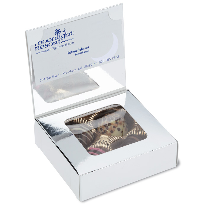 4imprint.com: Business Card Truffle Box 125685: Imprinted with your Logo