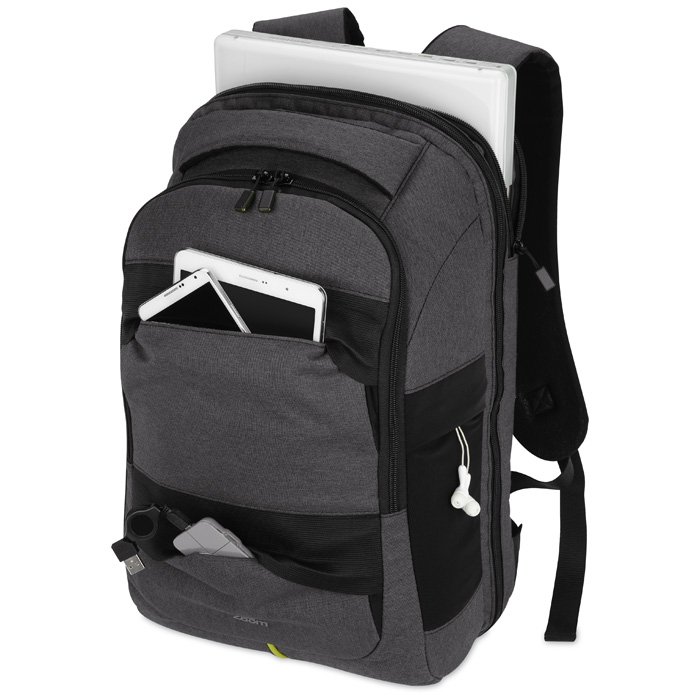 4imprint.com  Zoom Power Stretch Checkpoint Friendly Backpack 125779 a9e92c0c9c1bf
