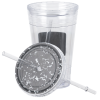 View Image 2 of 3 of Chalkboard Tumbler with Straw - 16 oz.