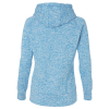 View Extra Image 1 of 2 of J. America - Cosmic Poly Fleece Hoodie - Ladies' - Embroidered