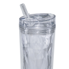 View Extra Image 1 of 3 of Flip and Sip Geometric Tumbler - 18 oz. - 24 hr