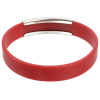 View Extra Image 1 of 2 of Silicone Wristband with Metal Accent
