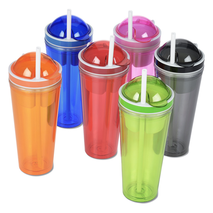 4imprint.com: Double Wall Snack Cup with Straw - 16 oz ...