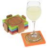 View Extra Image 2 of 2 of Bamboo and Silicone Coaster Set