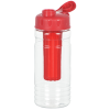 View Extra Image 3 of 3 of Clear Impact Infuser Bottle with Flip Lid - 20 oz.