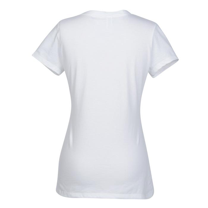 283be8577cc4e 4imprint.com: Fruit of the Loom Sofspun V-Neck T-Shirt - Ladies' - White  131647-L-VN-W
