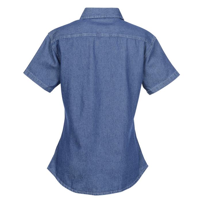 dfbd9c0215 4imprint.com  Utility Short Sleeve Denim Shirt - Ladies  132356-L-SS