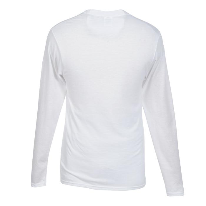 e0407db1 4imprint.com: Principle Performance Blend Long Sleeve T-Shirt - White  132483-LS-W