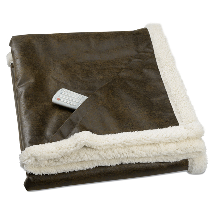 Sherpa lined rustic ranch throw blanket for Sherpa blanket