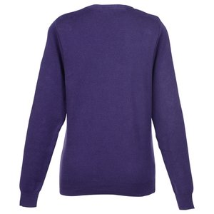 Ultra Soft Cotton V-Neck Sweater - Ladies' Image 1 of 2