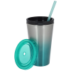 View Extra Image 1 of 2 of Chroma Stainless Tumbler with Straw - 16 oz.