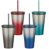View Extra Image 2 of 2 of Chroma Stainless Tumbler with Straw - 16 oz.