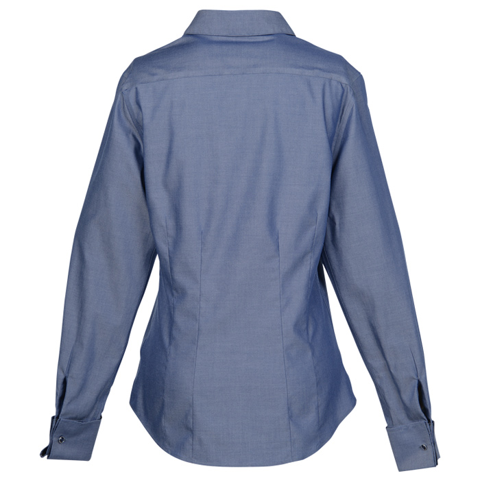 Wrinkle resistant oxford french cuff shirt French cuff shirt women
