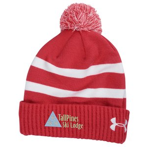 Under Armour Pom Beanie - Embroidered Image 1 of 1
