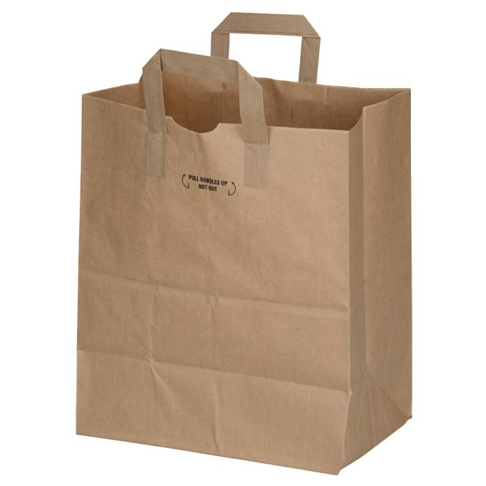 Flat Handle Paper Bag Image 1 Of Loading Zoom