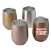 View Extra Image 1 of 1 of Stainless Steel Stemless Wine Glass - 9 oz.