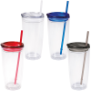 View Extra Image 1 of 2 of Flurry Tumbler with Straw - 20 oz. - Full Color