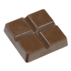 View Extra Image 1 of 3 of Gourmet Belgian Chocolate Square - 1/2 oz.